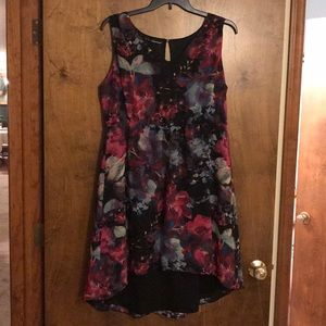 Maurices Abstract Floral Sleeveless Dress, Size 2